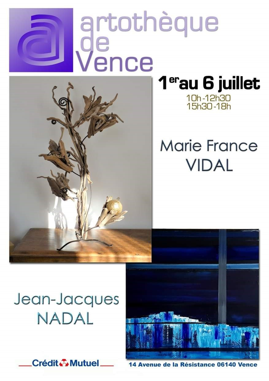 Exposition Marie France VIDAL & Jean Jacques NADAL